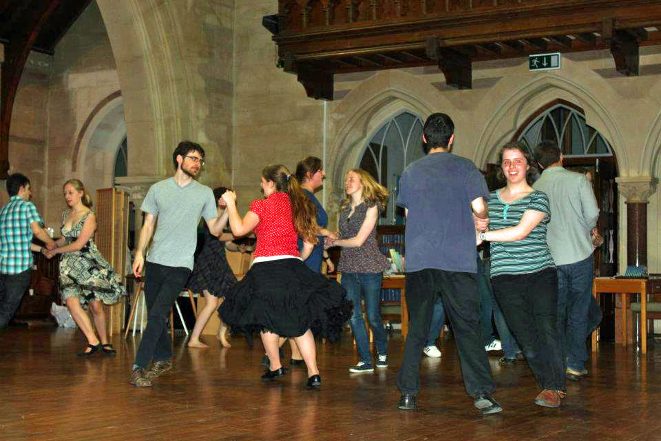 The all-dancing Ceilidh Band...